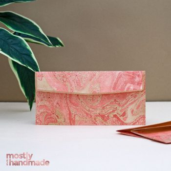 moneyenvelope_marbledpeach_mostlyhandmade_wedding_stationery