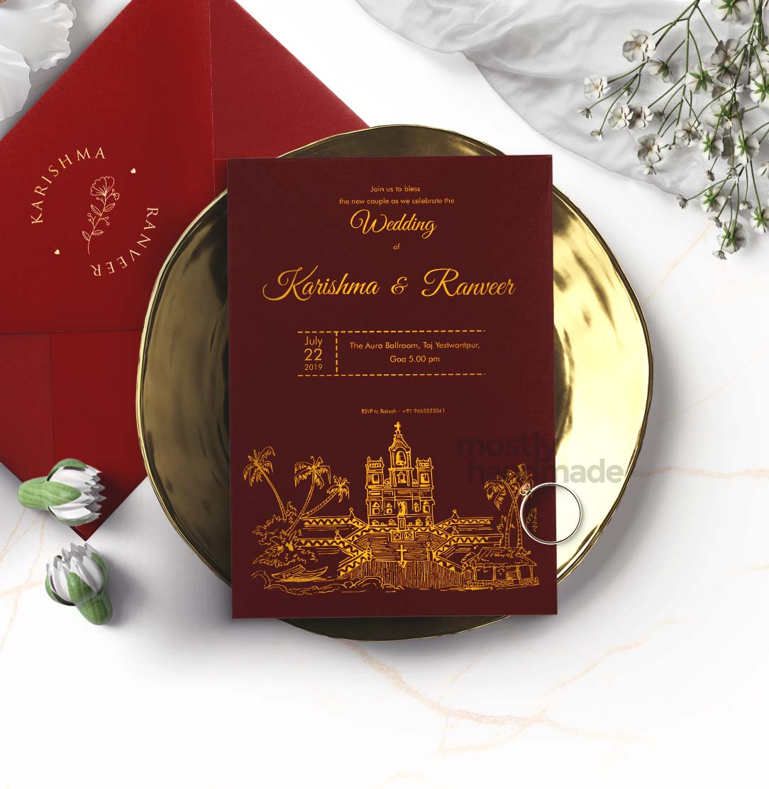 ctiy_goa_mostlyhandmade_goldprint_maroon__mostlyhandmade_wedding_invites_travel_themecard_mock1