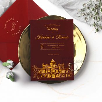 ctiy_jaipur_mostlyhandmade_goldprint_maroon__mostlyhandmade_wedding_invites_travel_theme_card_mock1